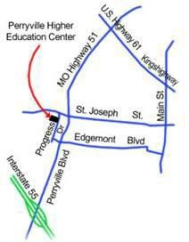 Map to Perryville Higher Education Center