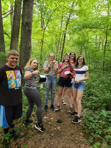 Upward Bound students on a trail