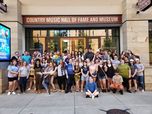 Upward Bound students in front of the Country Music Hall of Fame and Museum